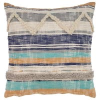 LR Home Geometric Chevron Multi Natural Throw Pillow 18 inch
