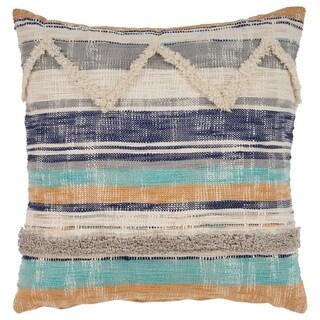 "LR Home Geometric Chevron Multi Natural Throw Pillow ( 18"" x 18"" )"