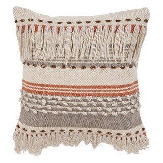 "LR Home Chic Natural Gray Throw Pillow ( 18"" x 18"" )"