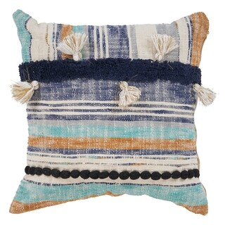 "LR Home Patchwork Black Multi Throw Pillow ( 18"" x 18"" )"