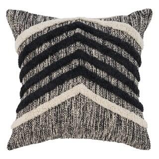 "LR Home Fringe Metallic Black Natural Throw Pillow ( 18"" x 18"" )"