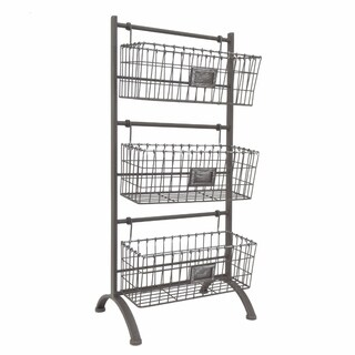 Baskets Storage Rack - Benzara