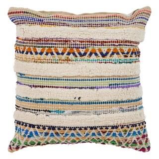 "LR Home Chevron Striped Multi Natural Throw Pillow ( 18"" x 18"" )"