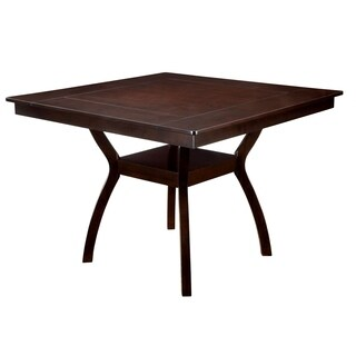 Contemporary Counter Height Table, Dark Cherry Brown