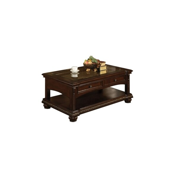 Majestic Sofa Table With 2 Drawers Cherry Brown Free Shipping Today 21837048