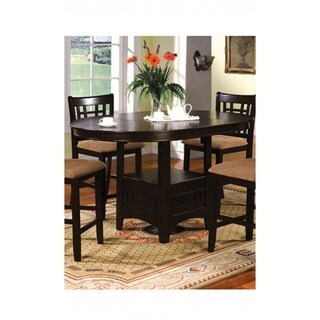 Traditional Oval Counter Height Table, Espresso Brown