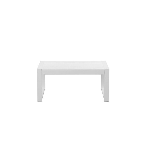 Quintessentially Perfect Anodized Aluminum Outdoor Table, White