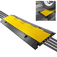 Pyle PCBLCO106 Cable Protector Cover Ramp - Cord/Wire Safety Concealment Track with Flip-Open Access Lid (Four Channel Style)