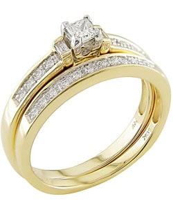 Miadora 14k Yellow Gold 1/3ct TDW Diamond Bridal Ring Set (H-I, I1-I2) - Thumbnail 1