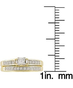Miadora 14k Yellow Gold 1/3ct TDW Diamond Bridal Ring Set (H-I, I1-I2) - Thumbnail 2