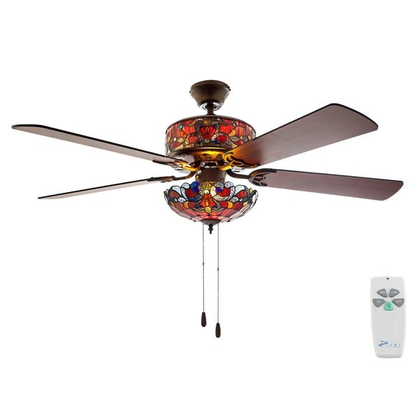 Shop 52 w tiffany style stained glass magna carta ceiling fan on 52 w tiffany style stained glass magna carta ceiling fan aloadofball Images