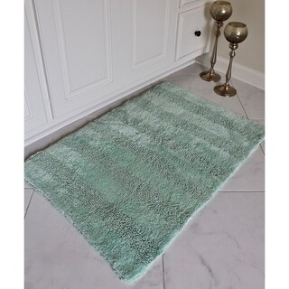 "Reversible Cotton Bath Mat 2 Piece Set in 20"" x 32"" and 17"" x 24"""