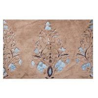 "Unbelievable Mats 18"" x 30"" Brown Embroidery Cotton Bath Mat"