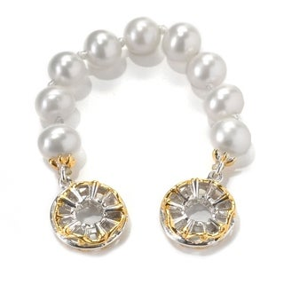 Michael Valitutti Palladium Silver Freshwater Cultured Pearl Slide-On Strand Charm