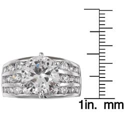 Sterling Essentials Sterling Silver CZ Wedding Ring - Thumbnail 2