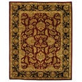 Safavieh Handmade Heritage Traditional Kashan Burgundy/ Black Wool Rug (9' 6 x 13' 6 )