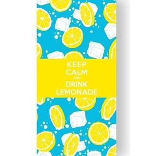 Premium Lightweight/ Compact Keep Calm Yellow Beach Pool Towel