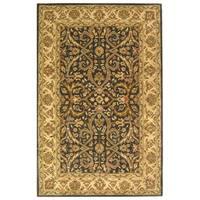 Safavieh Handmade Heritage Timeless Traditional Charcoal Grey/ Ivory Wool Rug - 8'3 x 11'