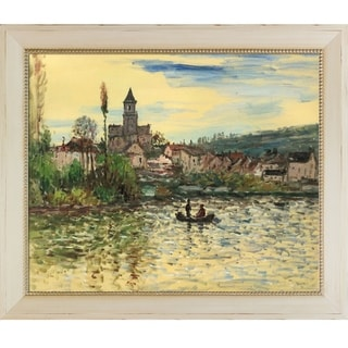 Claude Monet 'The Seine at Vetheuil' Hand Painted Oil Reproduction