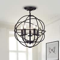 Parveen Black Metal 5-Light Chandelier