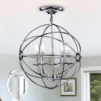 Karthika Chrome Metal 5-Light Chandelier