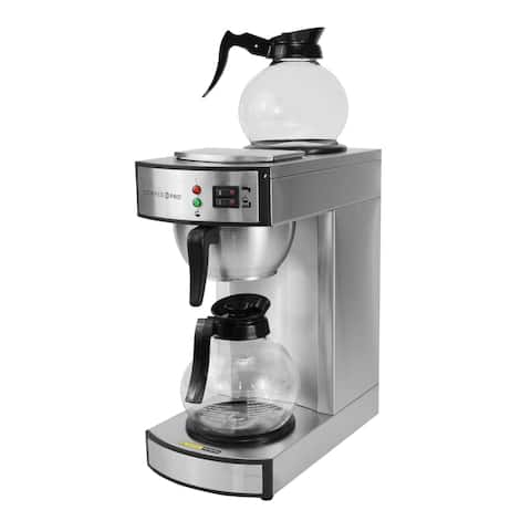 Coffee Pro CP-RLG2 Traditional Twin Warmer Commercial Coffee Maker