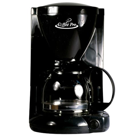 Coffee Pro CP6B Coffee Maker - Black - 4 Cup - Commercial