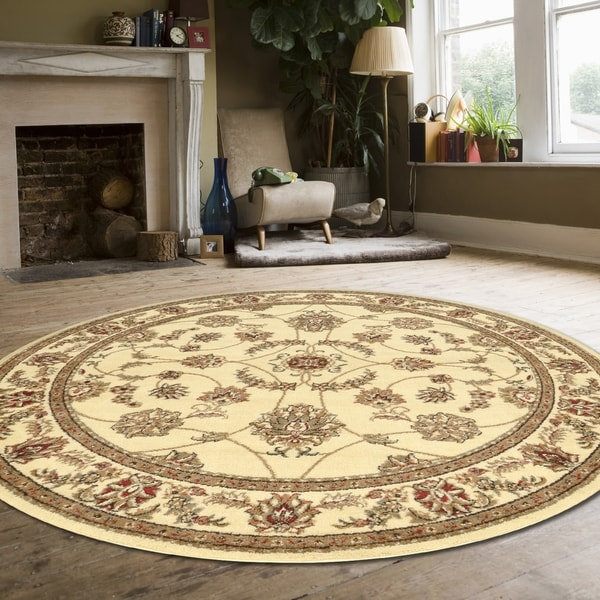 """Amalfi Flora Area Rug By Admire Home Living - 5'3"""" Round"""