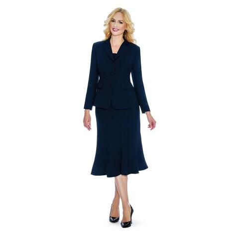 Giovanna Signature Women's 2-pc Washable Skirt Suit