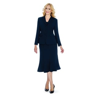 Giovanna Signature Women's 2-pc Washable Skirt Suit