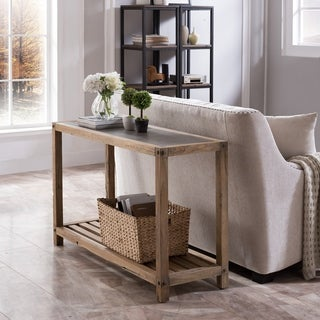Harper Blvd Cleirigh Aged Natural and Cement Gray Console Table