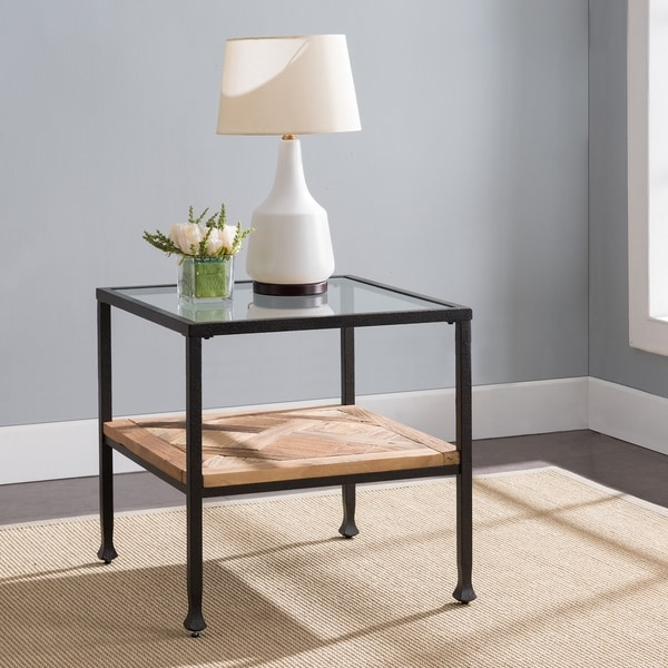 Harper Blvd Jersea Rustic Black and Aged Natural End Table