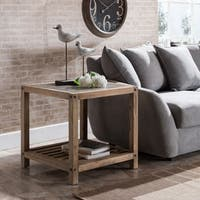 Harper Blvd Cleirigh Aged Natural and Cement Gray End Table