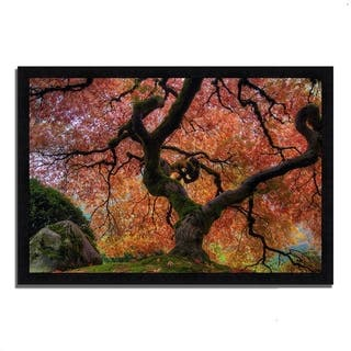 """Japanese Maple in Autumn"", Framed Photograph Print, Ready to Hang"