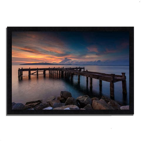 """""""Sunrise Jetty"""", Framed Photograph Print, Ready to Hang"""