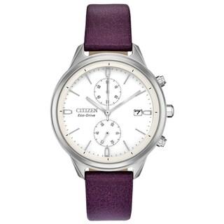 Citizen Ladies FB2000-11A Eco-Drive Vegan Leather Strap Watch - N/A