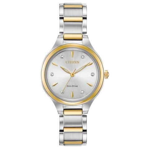 Citizen Ladies FE2104-50A Eco-Drive Diamond Dial Watch