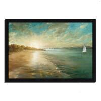 """Coastal Glow"" by Danhui Nai, Framed Painting Print, Ready to Hang"