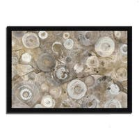 """Neutral Agate"" by Albena Hristova, Framed Painting Print, Ready to Hang"