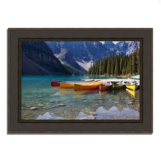 """Lake Moraine"", Framed Photograph Print, Ready to Hang"