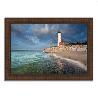 """Crisp Point Lighthouse"", Framed Photograph Print, Ready to Hang"