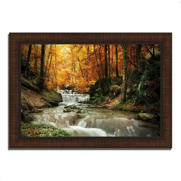 """Autumn Stream"", Framed Photograph Print, Ready to Hang"