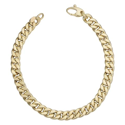 Fremada Italian 14k Yellow Gold Curb Link Bracelet (6 millimeters wide x 8.5 inches long)