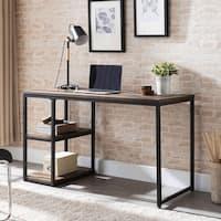 Harper Blvd Garstivon Rustic Black with Distressed Fir Writing Desk