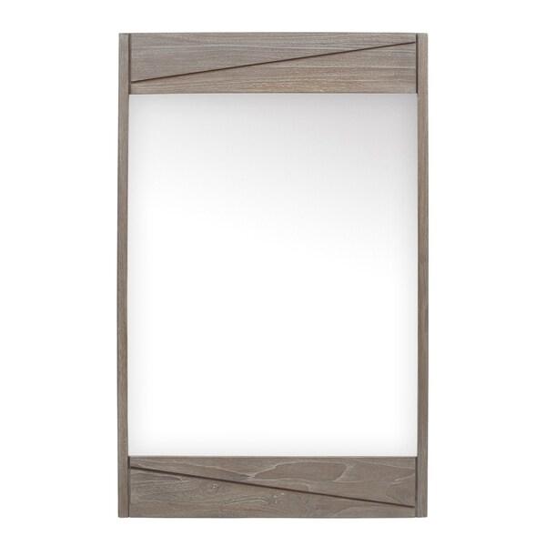 Avanity 24 in. Bathroom Mirror with Teak Frame