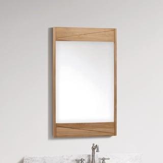 "Avanity 24 in. Wall Mirror - Teak Frame - 24""W x 38""H"