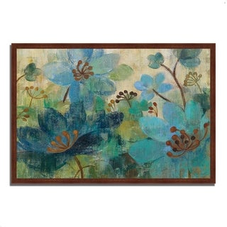 """Peacock Garden"" by Silvia Vassileva, Framed Painting Print, Ready to Hang"