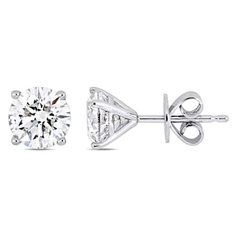 Miadora Signature Collection 14k White Gold 1-4/5ct TDW Diamond Solitaire Martini-Style Stud Earrings