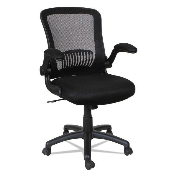 Alera EB-E Series Black Swivel/Tilt Mid-Back Mesh Chair