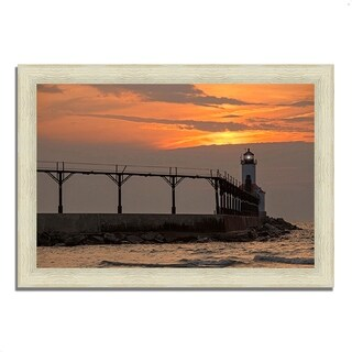 """Michigan City East Pierhead"", Framed Photograph Print, Ready to Hang"